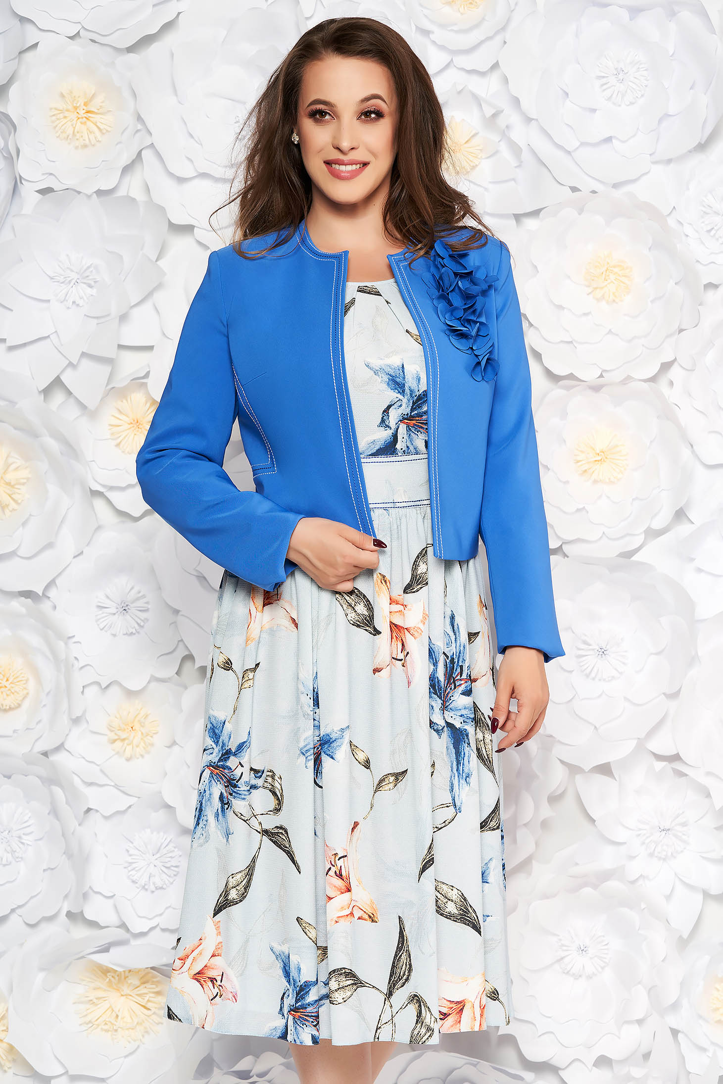 LaDonna blue elegant lady set from 2 pieces with floral print