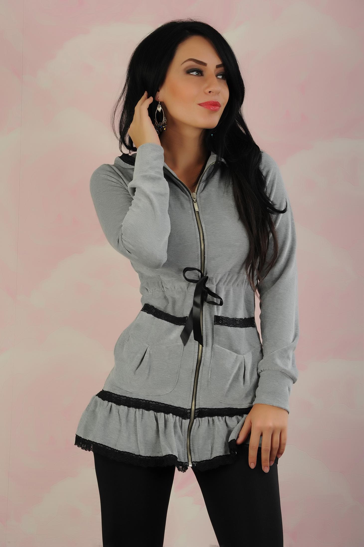 453832e452 Szürke My77 Doll Style Dzseki